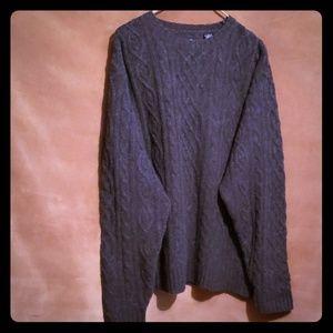 GAP 100% LAMBSWOOL Grey Sweater Sz L